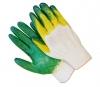 Перчатки х/б 2 облив латекса желто-зеленые