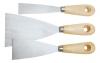 Шпатель малярный из нерж.стали, дерев.ручка 80 мм